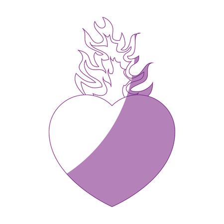 Catholique sacré coeur symbole icône illustration vectorielle design graphique Banque d'images - 81633404