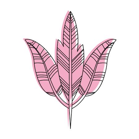Boho estilo plumas decorativas ilustración vectorial diseño Foto de archivo - 81633419