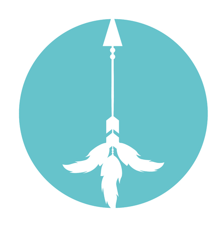 plume: Decorative arrows with feathers boho style vector illustration design
