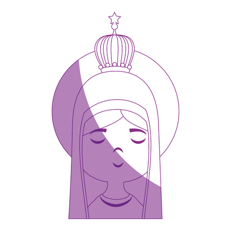 eyes are closed: Virgin mary cartoon icon vector illustration graphic design