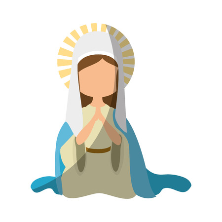 Virgin mary cartoon icon vector illustration graphic design Reklamní fotografie - 81633459