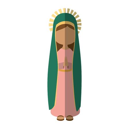 Jungfrau Mary Cartoon-Symbol Vektor-Illustration Grafik-Design