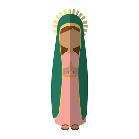 Virgin Mary cartoon pictogram vector illustratie grafisch ontwerp Stock Illustratie