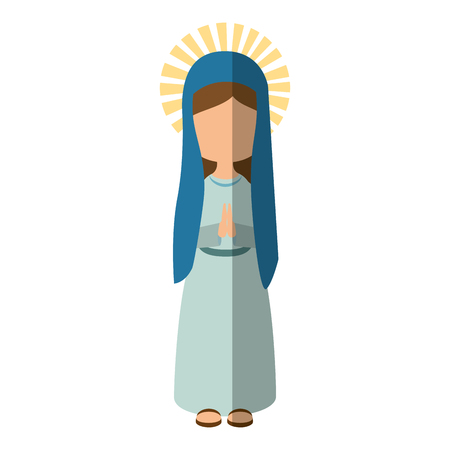 Virgin mary cartoon icon vector illustration graphic design Imagens - 81633465