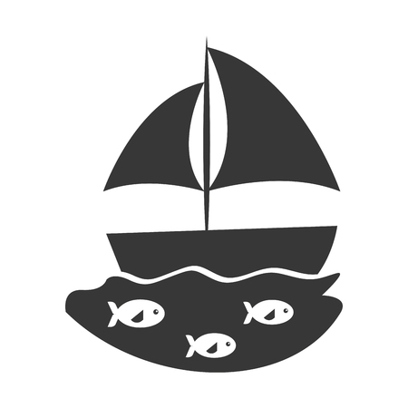 sailboat sea isolated icon vector illustration design Stock fotó - 81633475