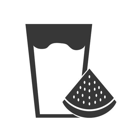 fresh watermelon juice icon vector illustration design Ilustracja
