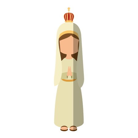 wite: Virgin mary cartoon icon vector illustration graphic design