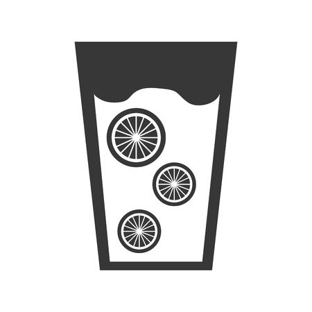 fresh orange juice drink icon vector illustration design Ilustracja