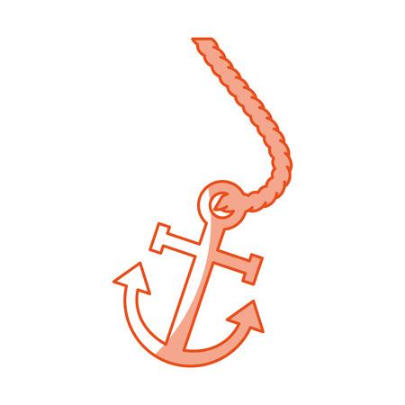 marine anchor isolated icon vector illustration design
