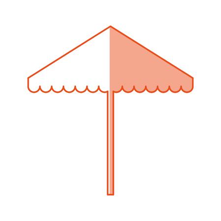ビーチ パラソル分離アイコン ベクトル イラスト デザイン
