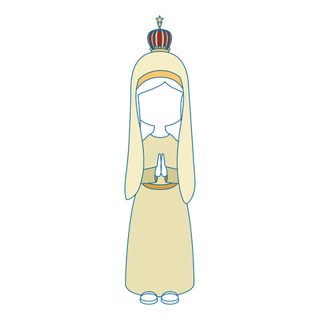 Virgin mary cartoon icon vector illustration graphic design Stock Vector - 81633698