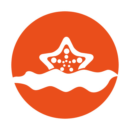 starfish in water icon vector illustration design Çizim
