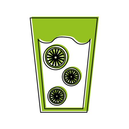 신선한 오렌지 주스 음료 아이콘 벡터 일러스트 레이 션 디자인