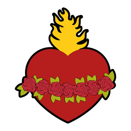 Katholischen heiligen Herzen Symbol Symbol Vektor-Illustration Grafik-Design Standard-Bild - 81633706