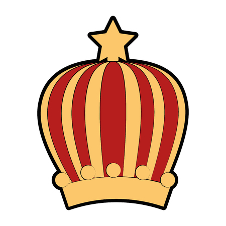 Queen or king crown icon vector illustration graphic design