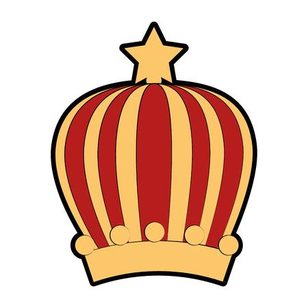 Reina o rey icono de la corona ilustración vectorial diseño gráfico Foto de archivo - 81633709