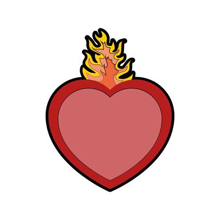 Katholischen heiligen Herzen Symbol Symbol Vektor-Illustration Grafik-Design Standard-Bild - 81633711
