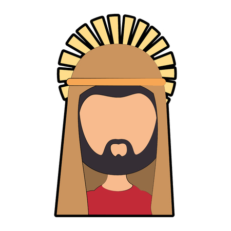 Saint joseph cartoon icon vector illustration graphic design