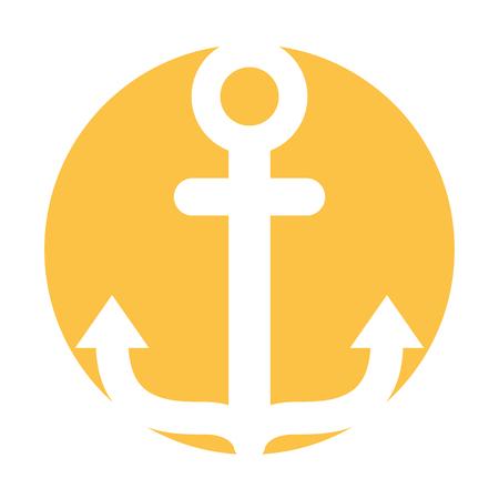 Ancoraggio marino isolato icona illustrazione vettoriale illustrazione Archivio Fotografico - 81637397