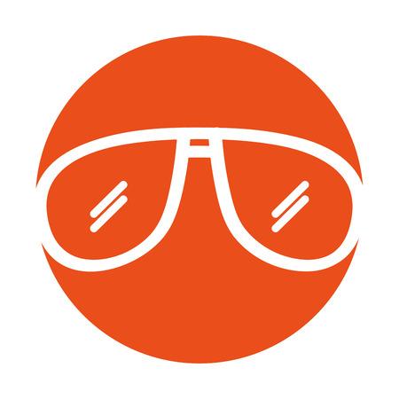 sunglasses summer isolated icon vector illustration design