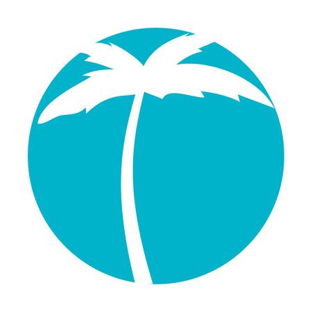 tree palm beach icon vector illustration design 向量圖像