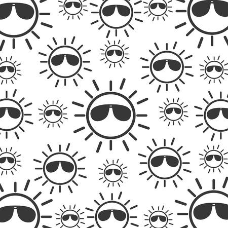 선글라스와 태양 문자 벡터 일러스트 레이 션 디자인 스톡 콘텐츠 - 81637415