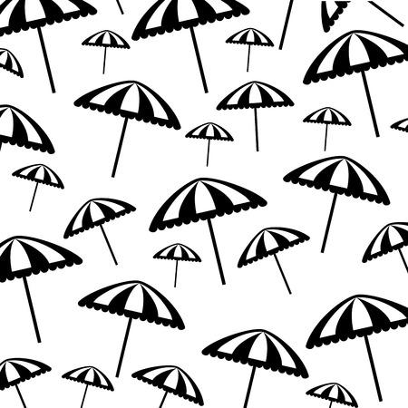 beach umbrella pattern background vector illustration design Stock Illustratie