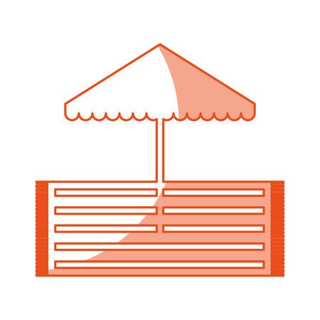 beach umbrella with rug vector illustration design 向量圖像