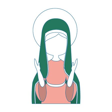 Vergine Maria icona del fumetto illustrazione vettoriale illustrazione grafica Archivio Fotografico - 81633727
