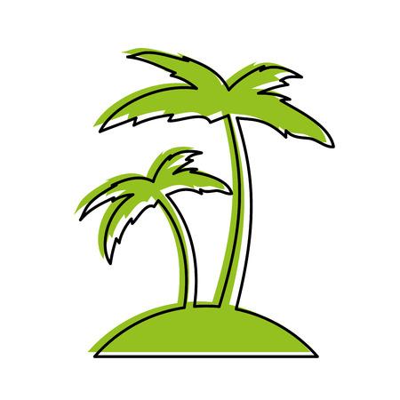 tree palm beach icon vector illustration design Çizim