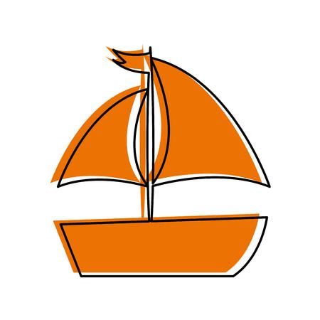 sailboat sea isolated icon vector illustration design Stok Fotoğraf - 81644957