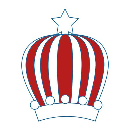 Koningin of koning kroon pictogram vector illustratie grafisch ontwerp