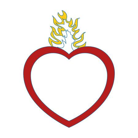 Catholic sacred heart symbol icon vector illustration graphic design Illustration
