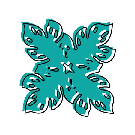 cute summer flower icon vector illustration design Illustration