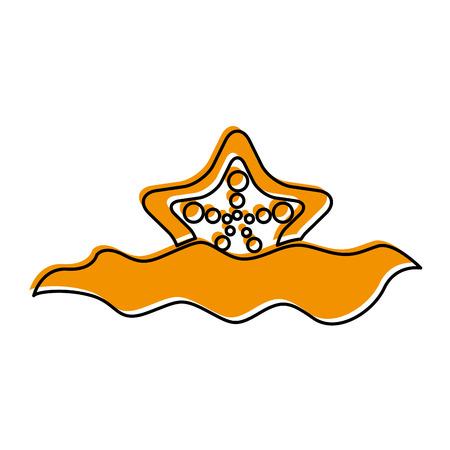 starfish in water icon vector illustration design Illustration