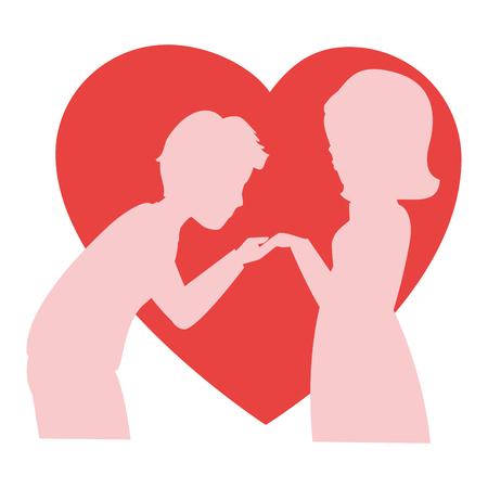 innamorati che si baciano: Beautiful and romantic couple icon vector illustration graphic design