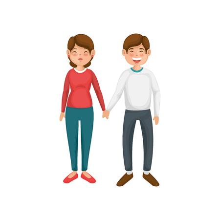 Beautiful and romantic couple icon vector illustration graphic design Stock fotó - 81637441