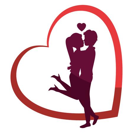 Mooi en romantisch paar pictogram vector illustratie grafisch ontwerp Stockfoto - 81637550