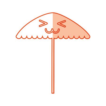 ビーチ傘カワイイ文字ベクトル イラスト デザイン  イラスト・ベクター素材