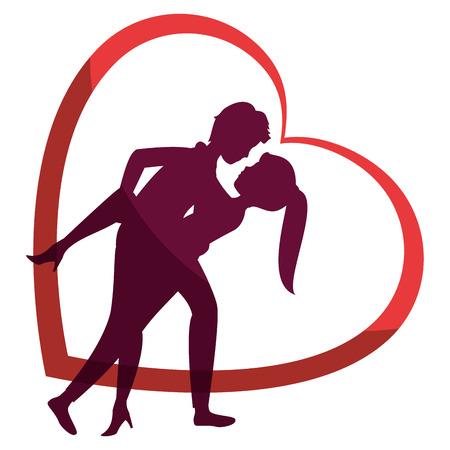Hermosa y romántica pareja iconos ilustración vectorial diseño gráfico Foto de archivo - 81637551