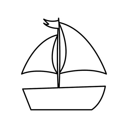 sailboat sea isolated icon vector illustration design Stock fotó - 81657464