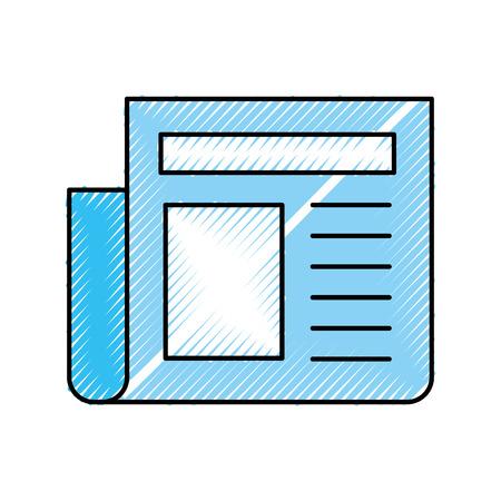 Krantenjournal geïsoleerd icon vector illustratie ontwerp Stock Illustratie