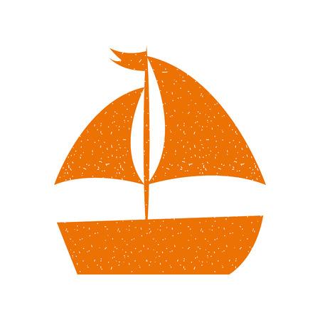 sailboat sea isolated icon vector illustration design