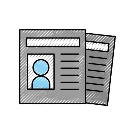 Curriculum vitae geïsoleerde pictogram vector illustratie ontwerp Stockfoto - 81657476