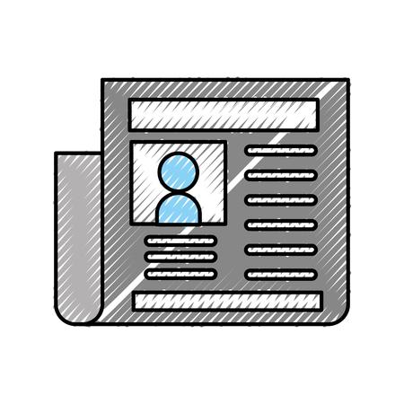 krant dagboek geïsoleerd pictogram vector illustratie ontwerp