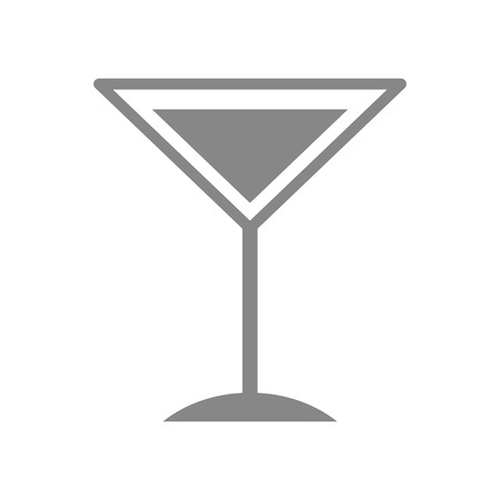 tropical cocktail cup icon vector illustration design