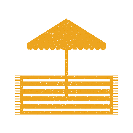 beach umbrella with rug vector illustration design Illustration