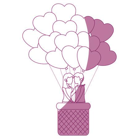 Beautiful and romantic couple icon vector illustration graphic design Фото со стока - 81642829