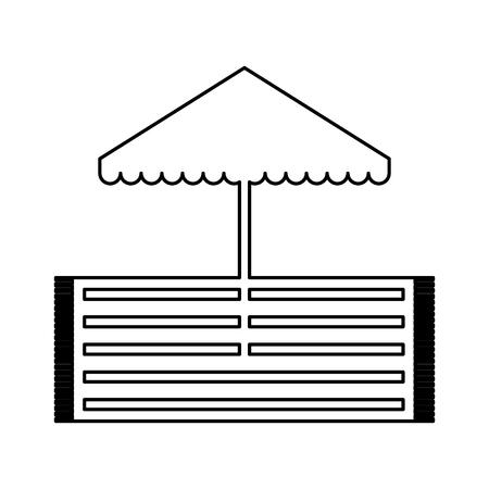 Strandparasol met ontwerp van de deken het vectorillustratie Stockfoto - 81657507
