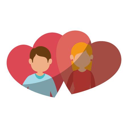 Beautiful and romantic couple icon vector illustration graphic design Reklamní fotografie - 81642858